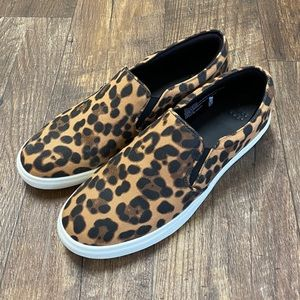 A New Day Women's Canvas Leopard Quilted Sneakers